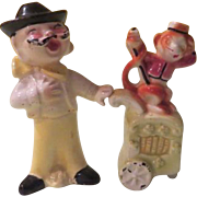 Operatic Organ Grinder with Monkey Salt and Pepper Shakers - nsp