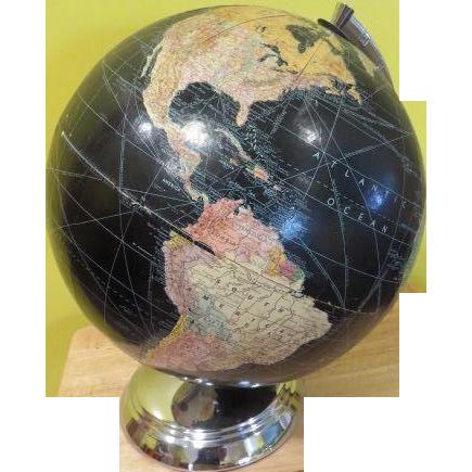 Weber Costello Chrome Base with Black ocean Globe - b