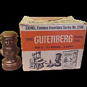 Lionel Gutenburg Printing Press No 3100