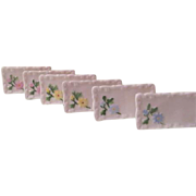 Painted Flowers China Place Cards - NSP