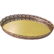 Oval Mirrored Vanity Tray - b189