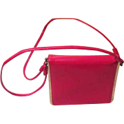 Seeing Double Strap Red Handbag - b191