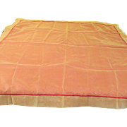 Gold over Rust Tablecloth with Sheer Overlay - L4