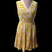 It's Always sunny... Yellow Print Dress
