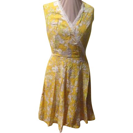 It's Always sunny... Yellow Print Dress