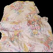 Colorful Floral Print Pinch Pleat Drapes - l7