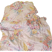 Colorful Floral Print Pinch Pleat Drapes - l7