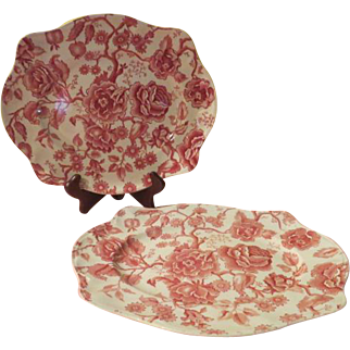Johnson Bros. English Chippendale Red Sovereign Platter