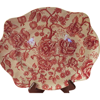 Johnson Bros. English Chippendale Red Sovereign Large Platter