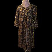 """Golden roses Zip Front """"Isadora'' Robe"""
