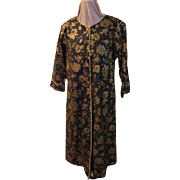 "Golden roses Zip Front ""Isadora'' Robe"