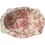Johnson Bros. English Chippendale Red Sovereign Oval Vegetable Bowl