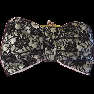 Lace Over Satin Clutch Handbag/purse - b192