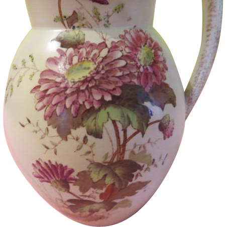 Wiltshaw & Robinson Trent on Stoke Chrysanthemum Chinoiserie Hot Water Pitcher - b193