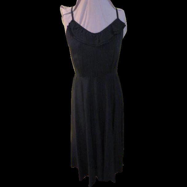 Black as Ink Spaghetti Strap Dress