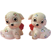 Wide Eyes Puppies with Bows Salt and pepper shakers - nsp