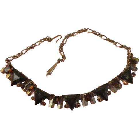 Geometric Triangle Necklace - Free shipping