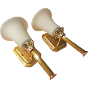 Glamorous Golden Torchiere Column Wall Sconce - b194