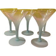 Aqua Blendo Martini Glasses - b195