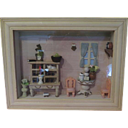 Dining Room Diorama /dollhouse