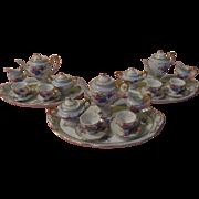 Tiny Miniature/dollhouse Blue Tea for Two Set on Tray - b199