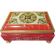 Red and Gold Fricke & Nacke English toffee Metal Candy tin - b196