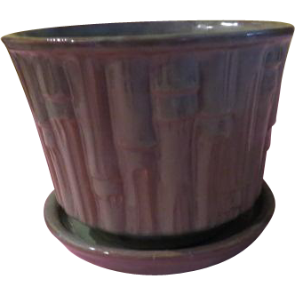 Extra Large McCoy Bamboo flower Pot - b205