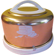 Mirro Bright Copper Cake Carrier - g