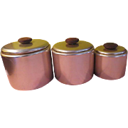 Touch of Pink Mirro Spun aluminum Canister Set - g
