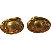 Repousse' Leaves Cuff Links - free shipping