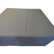 Textured Blue Tablecloth - cl