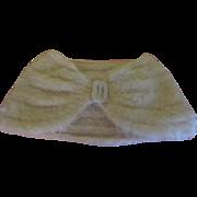 Fuzzy Angora Knit stole - b203