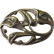 Danecraft Silver Calla Lily Art Nouveau Pin - Free shipping