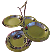 Mid-century Kromex Chrome Double Tier $ plate Spinner Tid-bit - g4