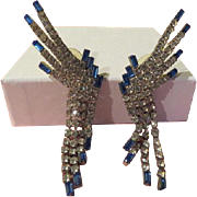 Outrageous Blue Tipped Earring - Free shipping
