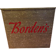 The Milkman Comeith Bordens Dairy Delivery Porch Milk Box - g