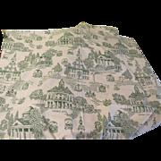 Patriotic Toile green Toile de Jouy Print Fabric - L(9