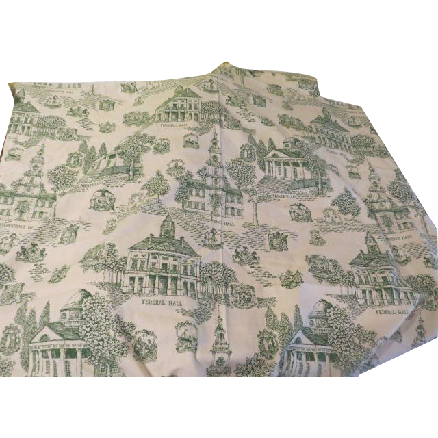 patriotic toile green toile de jouy print fabric l 9 from hodgepodgelodge on ruby