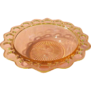 Pink Old Colony Open Lace Bowl - b196