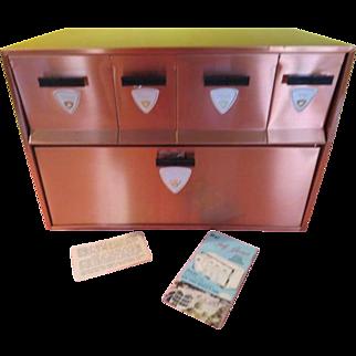 Mid-century Garnerware Space-saver Breadbox and Canister - G