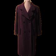 Eggplant Cashmere Wool Coat