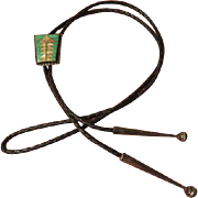 Totem Design Abalone Bolo Tie - Free shipping