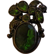 Green With Envy Sterling Pin - Free shipping