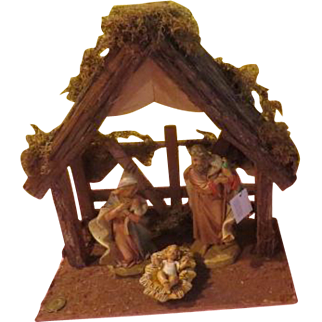 Large Italian Made Fontanini Nativity Set in Box