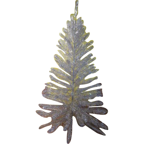 Silver Tinsel Christmas Tree With Color Wheel: Silver Forest 7 Foot Aluminum Christmas Tree In Box From