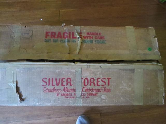 Silver Forest 7 Foot Aluminum Christmas Tree In Box From