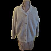 Fuzzy Angora Cardigan Sweater