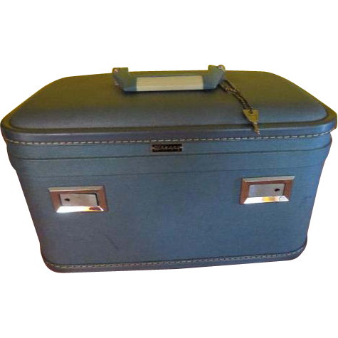Baby Blue Overnight Train/cosmetic Case
