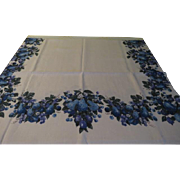 Border of Blue fruit Tablecloth - b200