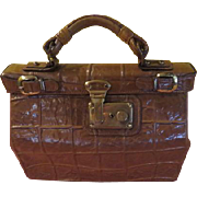 Park Lane Moc Croc Satchel Handbag - B203